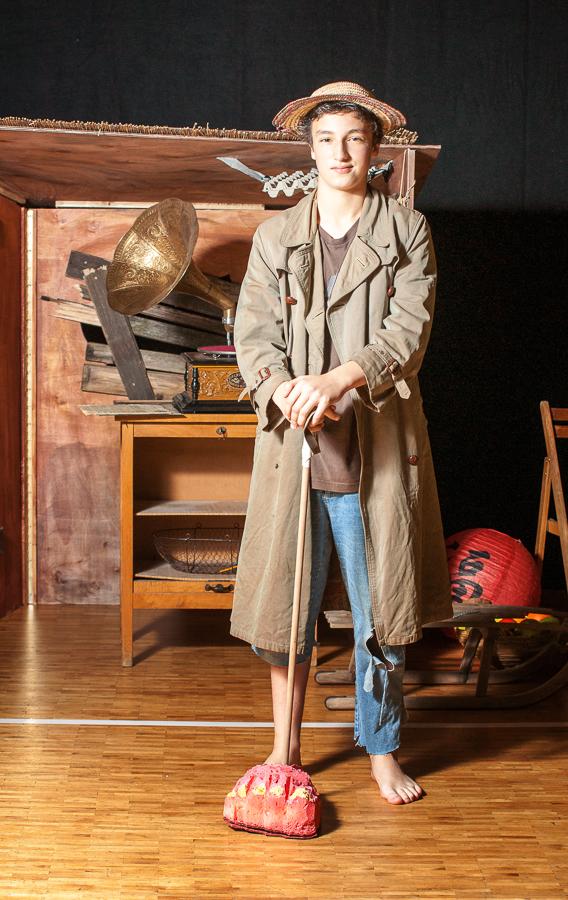 """Malik Meyer als """"Der Junge mit dem Fuß"""" (Theartic junior 2011)"""